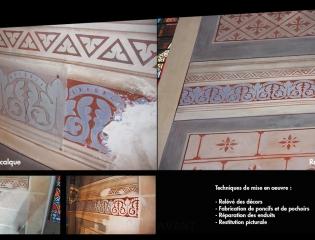Restauration de peintures murales